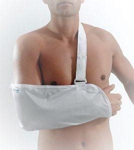 Φάκελος ανάρτησης βραχίονα: Ακινητοποίηση του αγκώνα και του πήχη. Νάρθηκας βραχίονα, στήριξη αγκώνα, σπασμένο χέρι, thuasne