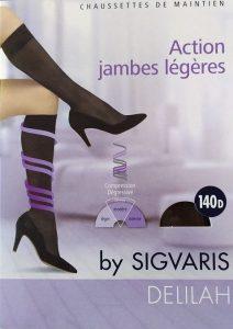 Κάλτσες Πρόληψης για Γυναίκες μειούμενης συμπίεσης DELILAH, κάτω γόνατος 140D, delilah, sigvaris, ξεκούραση... φλεβική κυκλοφορία, παπαποστόλου